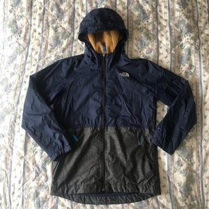 North face insulated wind breaker jacket